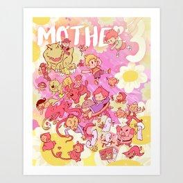 Mother 3 - Pink Art Print