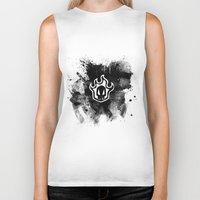bleach Biker Tanks featuring Bleach BW 5 by Bradley Bailey