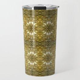 Golden Ornate Pattern Travel Mug