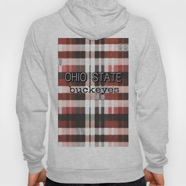 Ohio State Buckeye Plaid Hoody