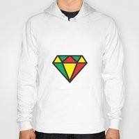 reggae Hoodies featuring Reggae Diamond by Grime Lab