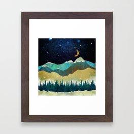 Snowy Night Framed Art Print
