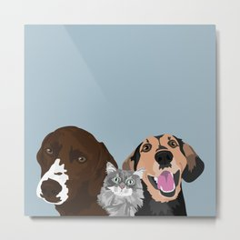 Henry Achilles and Walker Metal Print