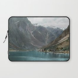 Village by the Lake & Mountains Laptop Sleeve