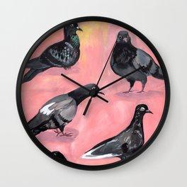 Pigeon Friends Wall Clock