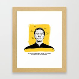 "Star Trek Valentine- ""My mental pathways have become accustomed to your sensory input patterns."" Framed Art Print"