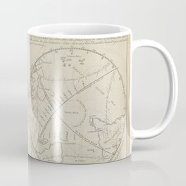 A map of the Earth, from Astronomy explained upon Sir Isaac Newton's principles (1770) Coffee Mug