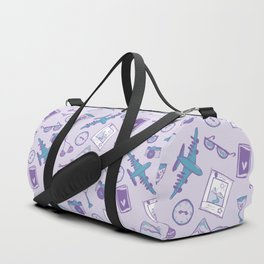 World travel memories sketch pattern Duffle Bag