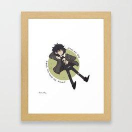 Sleep All Day Framed Art Print
