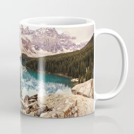 Moraine Lake III Banff Summer Mountain Reflection Coffee Mug
