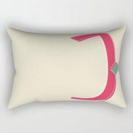 باء | Ba'a .. stands for the letter B. Rectangular Pillow
