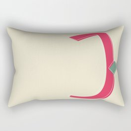 باء | Ba'a .. stands for the letter B. Rectangular Pillow