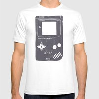 Game Boy Mens Fitted Tee SMALL White