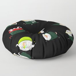 Sushi Dragons Floor Pillow
