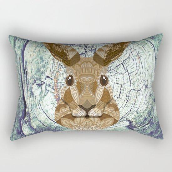 Ornate Hare Rectangular Pillow