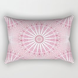 Dusky Pink Mandala Rectangular Pillow