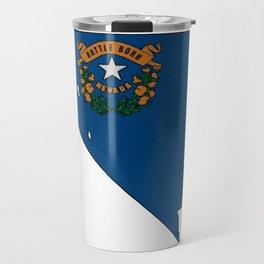 Nevada Map with State Flag Travel Mug