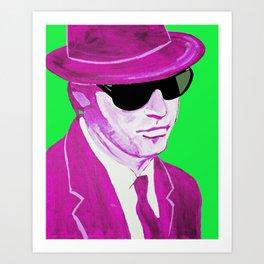 Elwood Blues(& Green & Purple) Art Print
