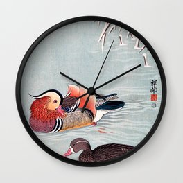 Ohara Koson - Top Quality Art - Mandarin Duck Wall Clock