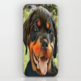 Chubby Rottweiler Puppy iPhone Skin
