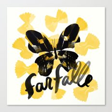 Farfalle | 100 Days of Cookbook Spots Canvas Print