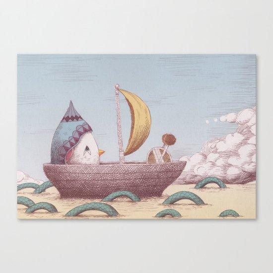 Drummer Bird - Sailing Canvas Print