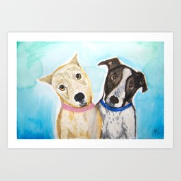 Bella and Diego Art Print
