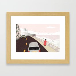 A Moment of Warmth Framed Art Print