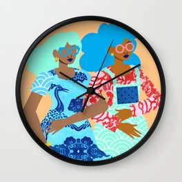 Spring in Our Step Wall Clock