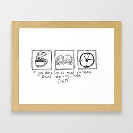 Books (White) Framed Art Print