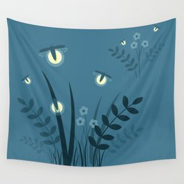 Night Lights Wall Tapestry