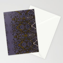 Mulled Wine Purple, Vanilla & Ginger Rustic Filigree Stitch Lace by artestreestudio Stationery Cards