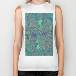 Cool And Calm - Abstract blue and purple painting, icy, chilled out, calming, relaxing artwork Biker Tank