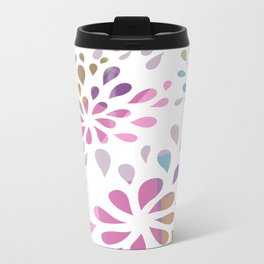 Colourful drops Metal Travel Mug