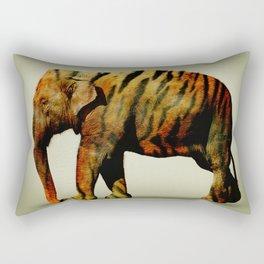 Tiger Elephant Rectangular Pillow