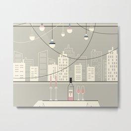 Drinks by City Light Metal Print