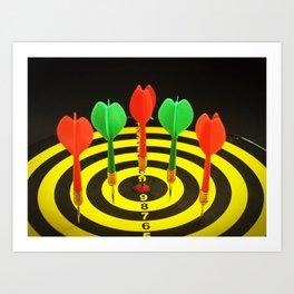 Colorful Darts Art Print