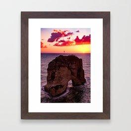 sunset #decor #buyart #society6 Framed Art Print