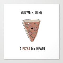 Pizza My Heart Canvas Print