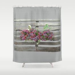 Chili, Grapes and Screws 01 Shower Curtain