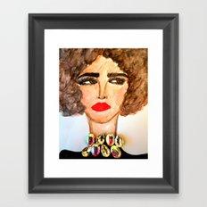 Gem Necklace Framed Art Print