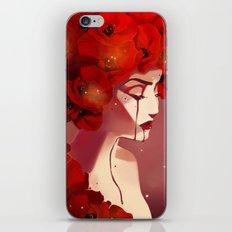 Red Poppy Girl Alternate iPhone & iPod Skin