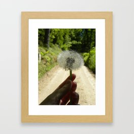 A Wish for the Road Framed Art Print