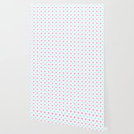 Pink and Blue Hearts Wallpaper