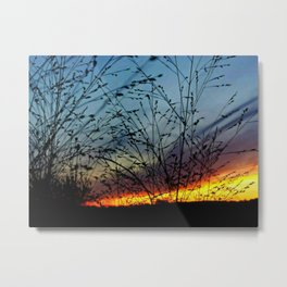 Floral Sunset Metal Print