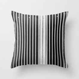 Colored iron corrugated sheets at The Commons BKK Throw Pillow