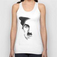 charlie chaplin Tank Tops featuring Chaplin by josie leigh