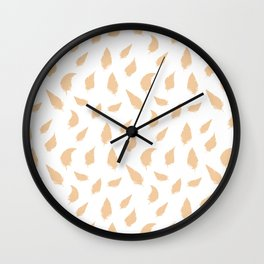 Feather pattern soft pink Wall Clock