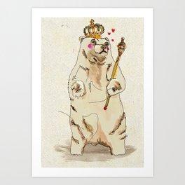 Jubilee Bear Art Print