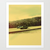 Art Print featuring Cuban Cars by Jazzdoodles
